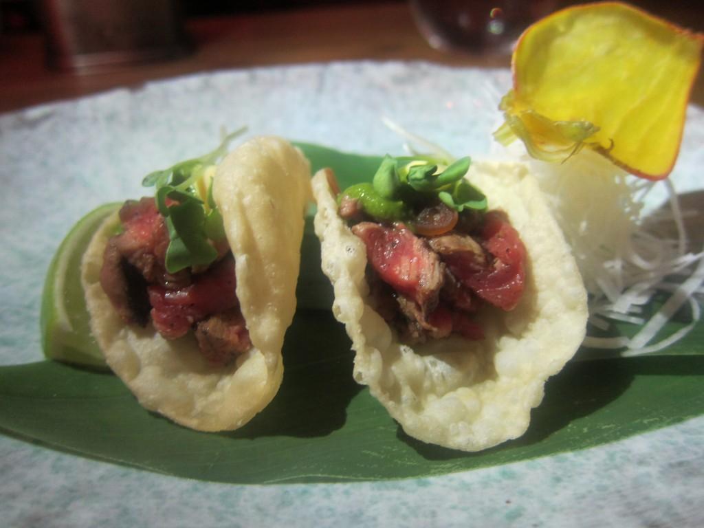 Nobu Style Tacos with Wagyu Beef