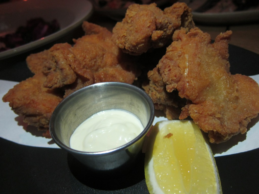 Crispy Marinated Chicken with Lemon Aioli