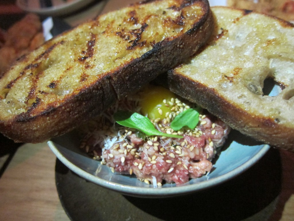 Beef Tartare with Pickled Jalapeno and Parmigiano