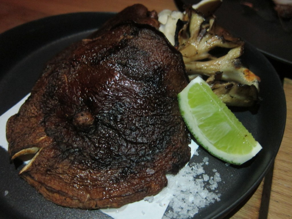 Grilled Winter Mushrooms with Sea Salt and Lime