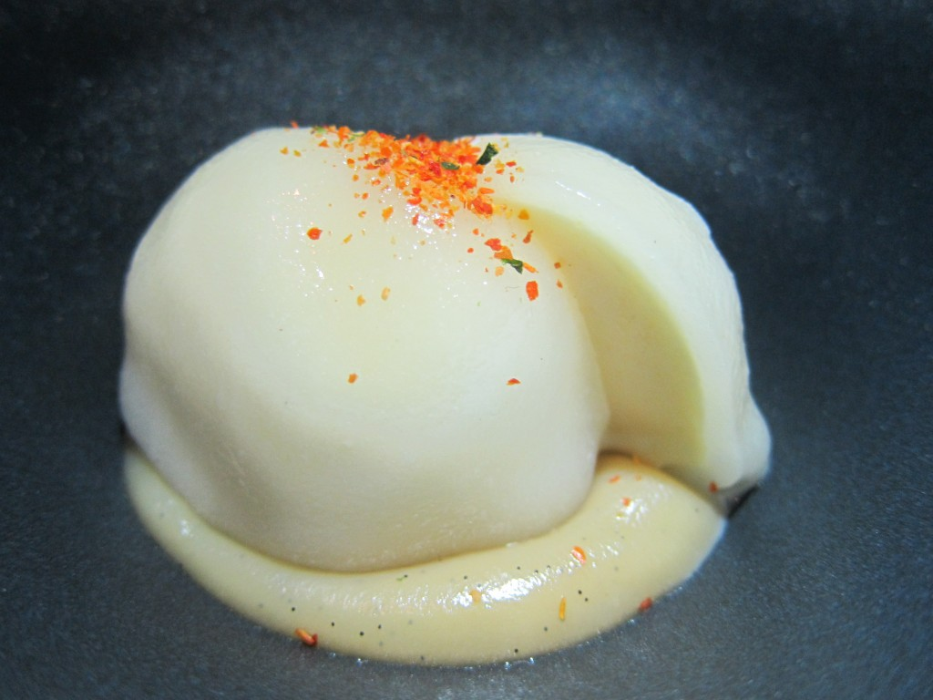 Miso Mochi Rice Cream with Butterscotch and Togarashi