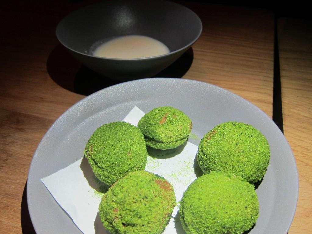 Matcha Donuts & Koji Milk