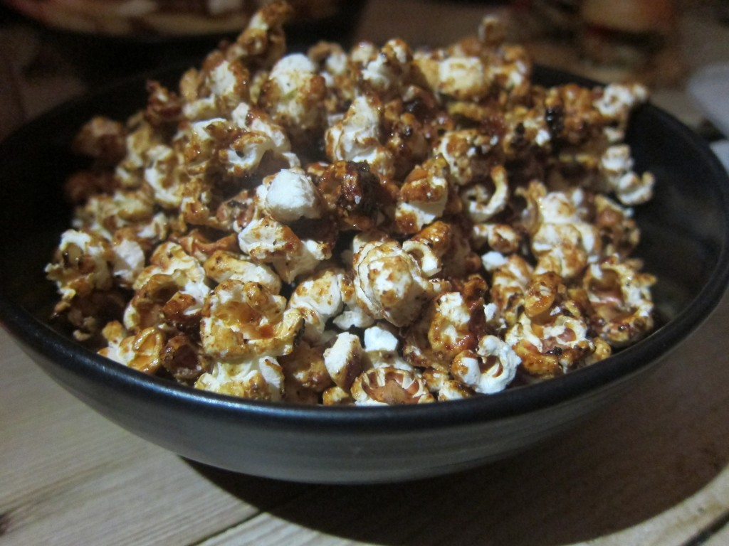 Kettle Corn with Montreal steak spice and maple syrup