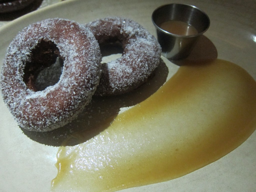 Apple Cider Donuts with apple butter and salted caramel