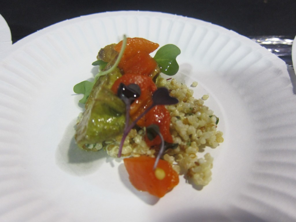 Ricardo Zarate's Quinoa Salad with Roasted Vegetables and Miso Dressing was my favorite dish of the event.