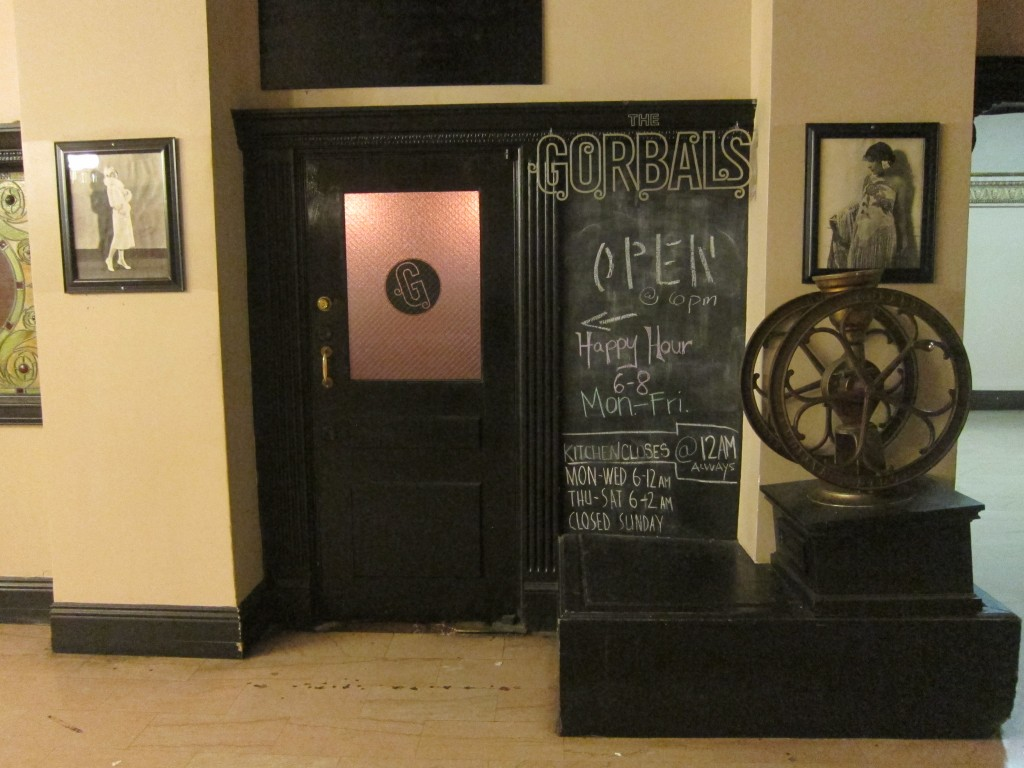 Entrance to the The Gorbals inside the creepy Alexandria Hotel