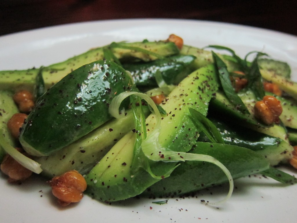 Persian Cucumbers, Avocado, Crispy Garbanzos and Sumac