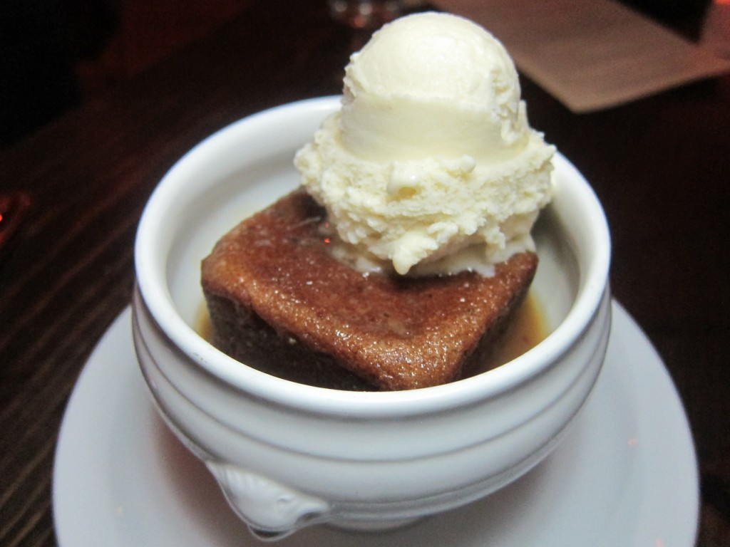 Sticky Toffee Pudding with Vanilla Bean Ice Cream and Maldon Salt