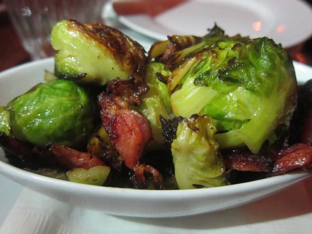 Brussels Sprouts with Boiled Bacon