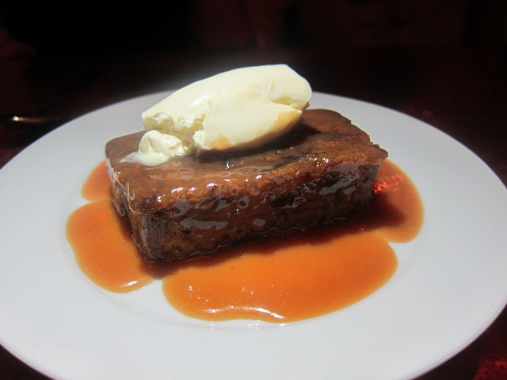 Sticky Toffee Pudding with Butterscotch and Clotted Cream