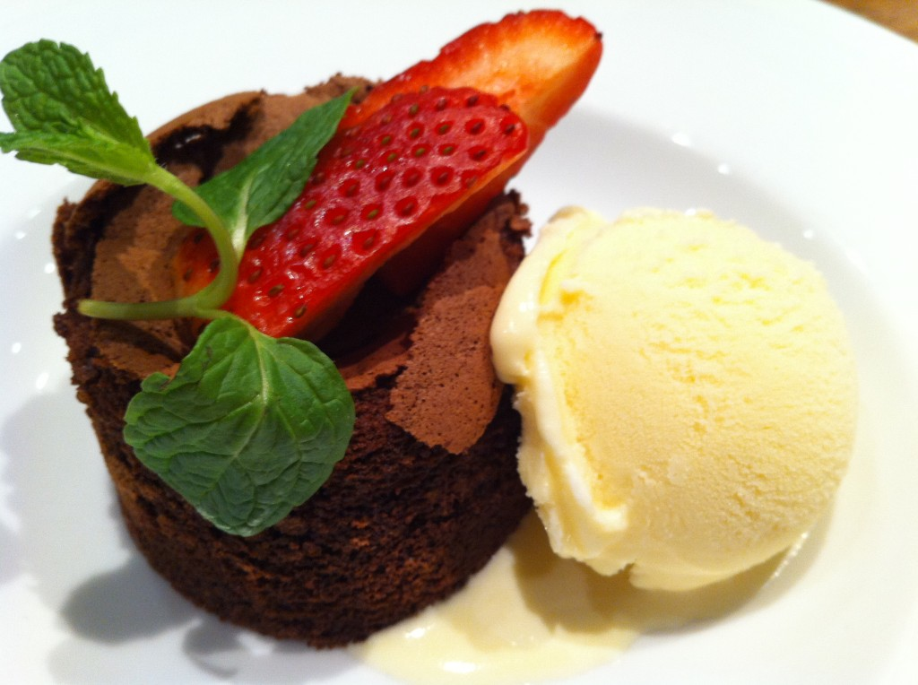 Mini Chocolate Lava Cake with Vanilla Ice Cream