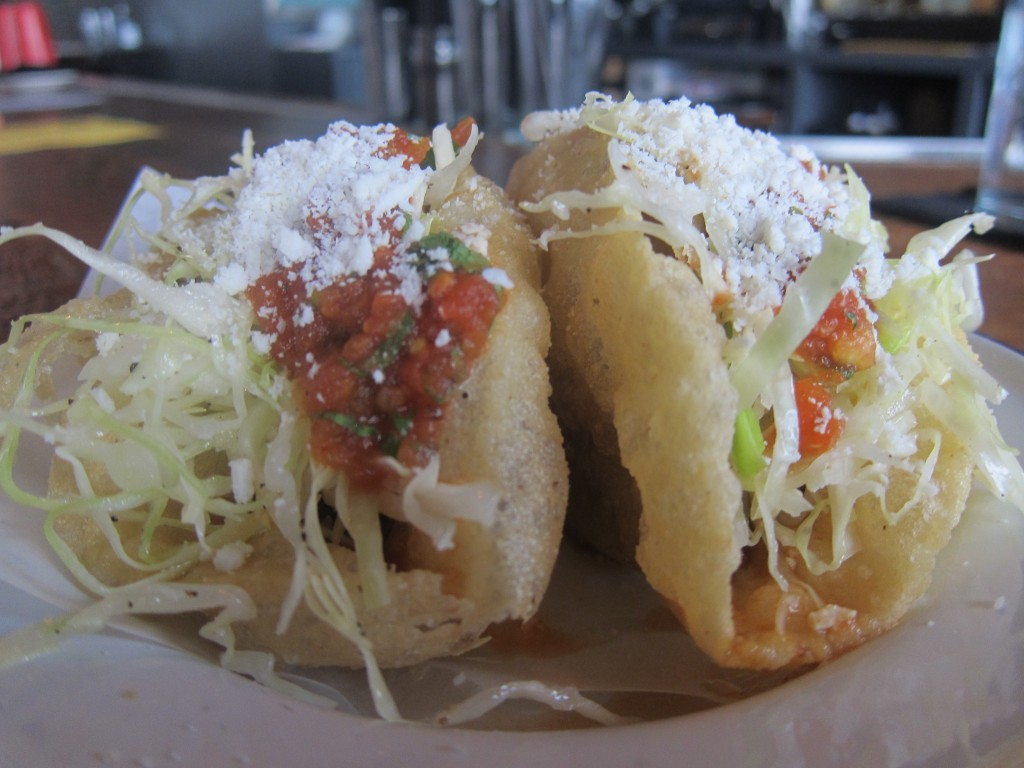Carne Guisada Puffy Tacos