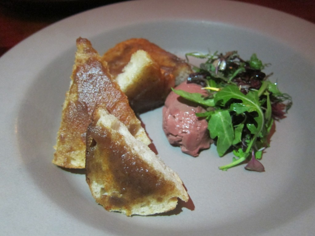 Chicken Liver Toast and Date Jam from Alma