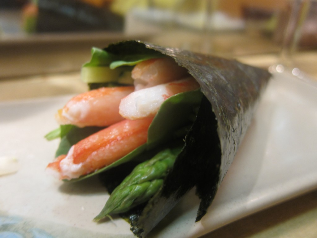 Snow Crab and Vegetable Hand Roll