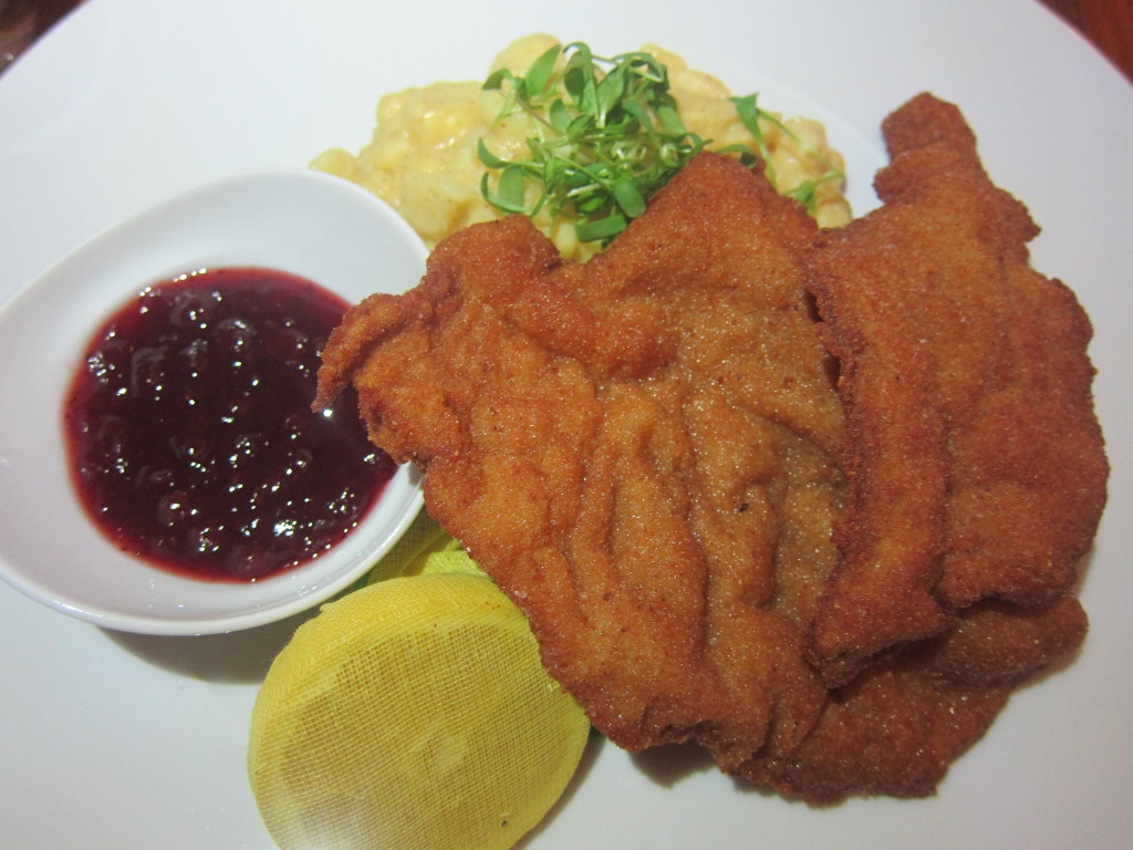 Original Vienna Schnitzel with Lemon, Lingonberries and Potato Salad