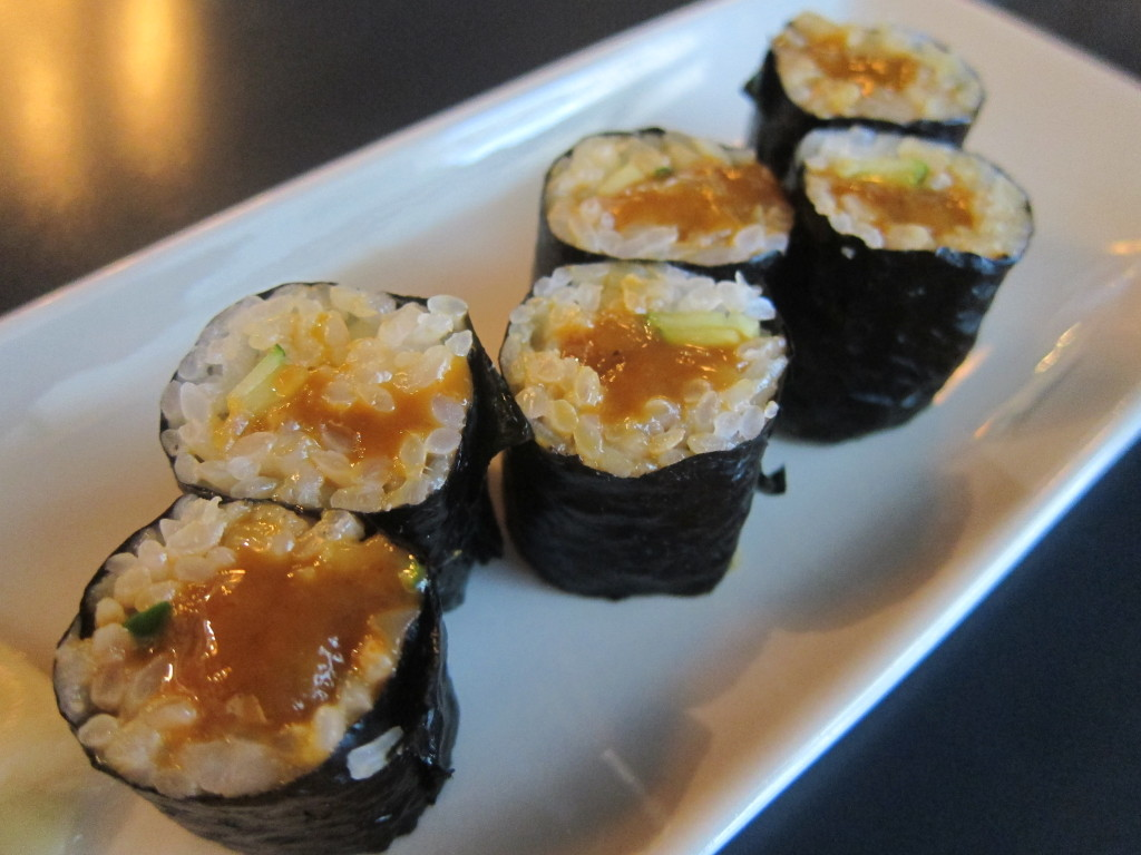 Marinated Sea Urchin with Squid Roll