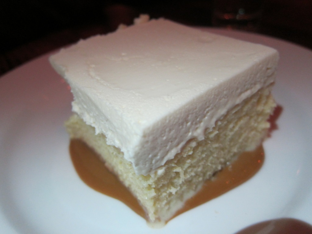 Tres Leches Cake with Dulce de Leche