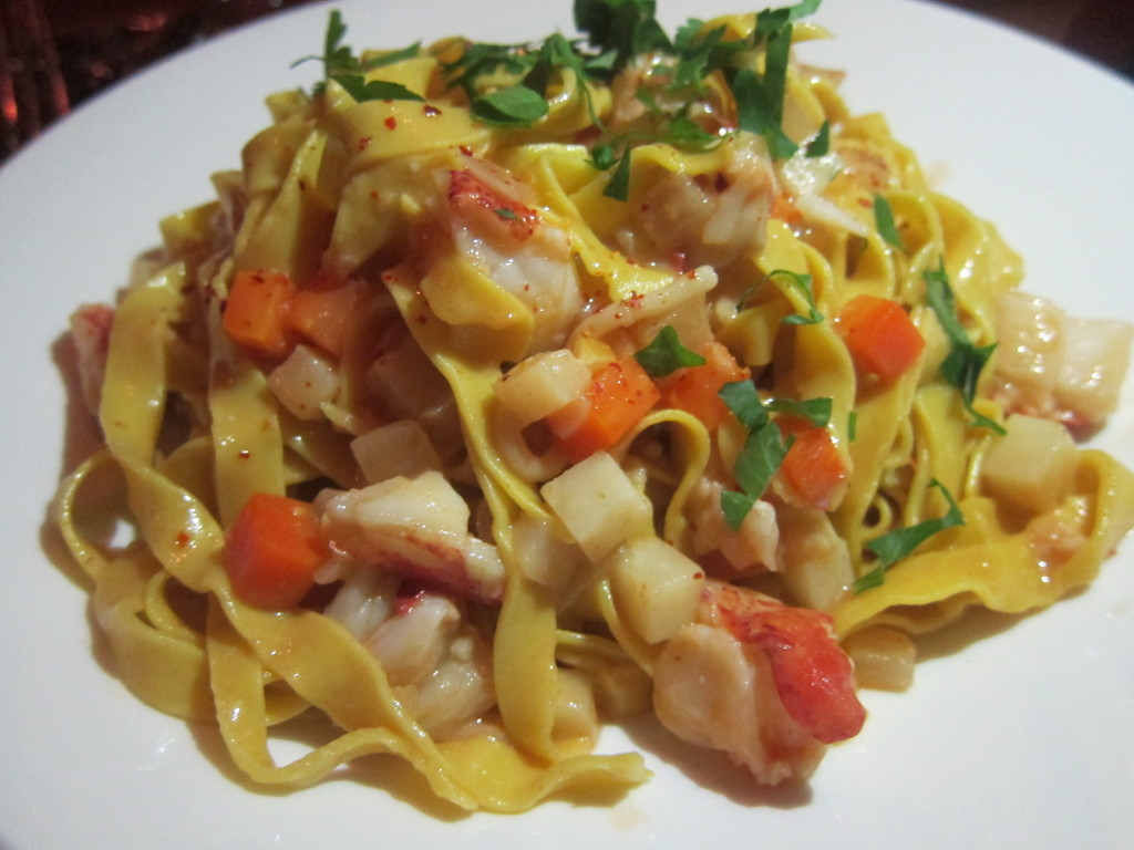 Hand-Cut Fettuccine with Maine Lobster Bolognese