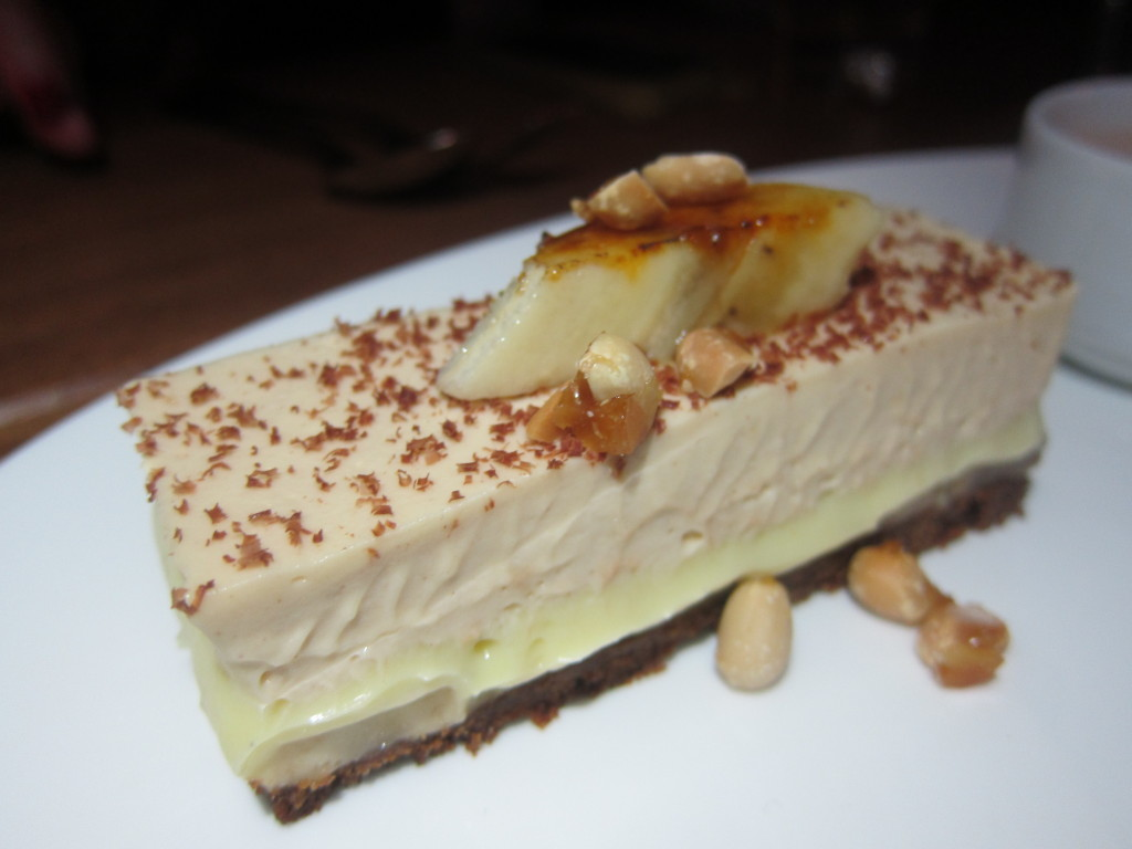 Banana Cream Pie with Hot Chocolate and Peanut Buttter