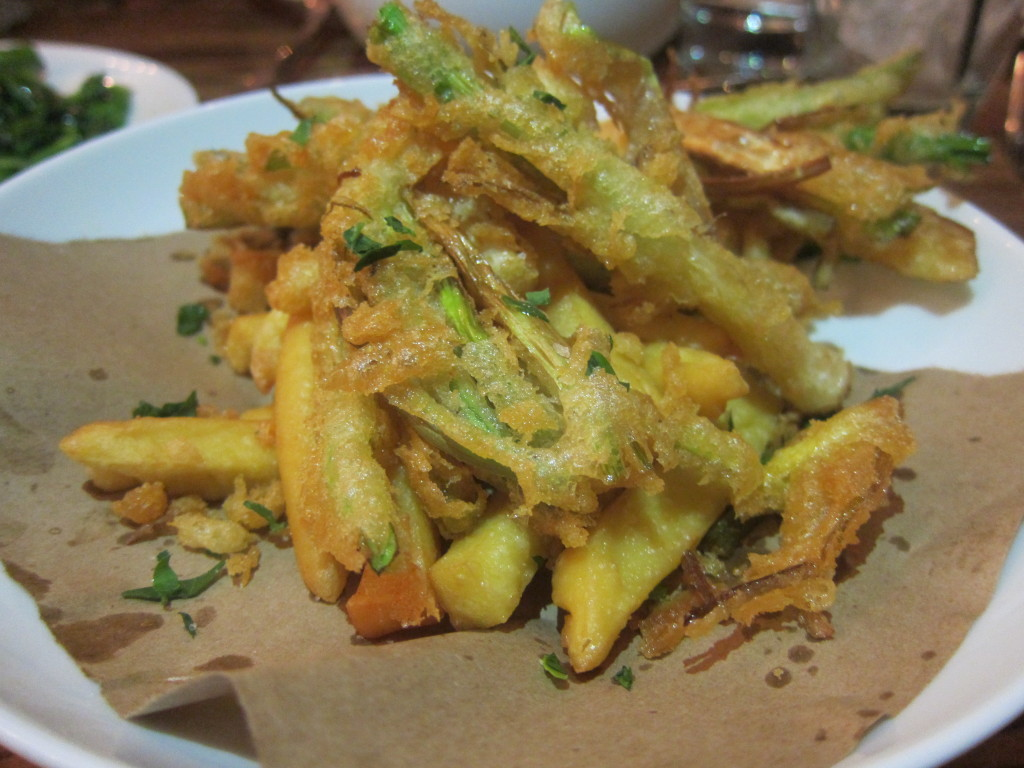 Frittura (Baby Leek, Beer-Batter and Chickpea Fritters)