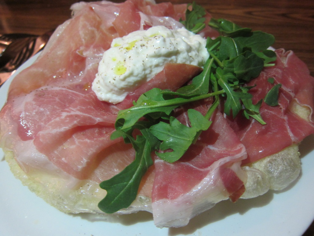 Prosciutto (Parma Prosciutto 24 Months, Lightly Fried Sage Dough and Stracciatella)