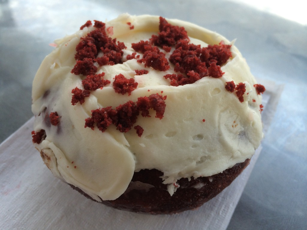 Red Velvet Donut from S K's Donuts & Croissants