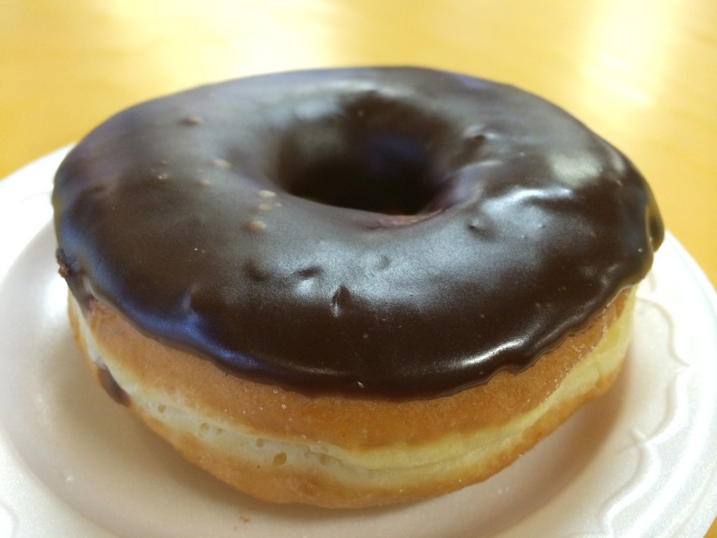 Chocolate Raised Donut from Bob's Coffee & Doughnuts