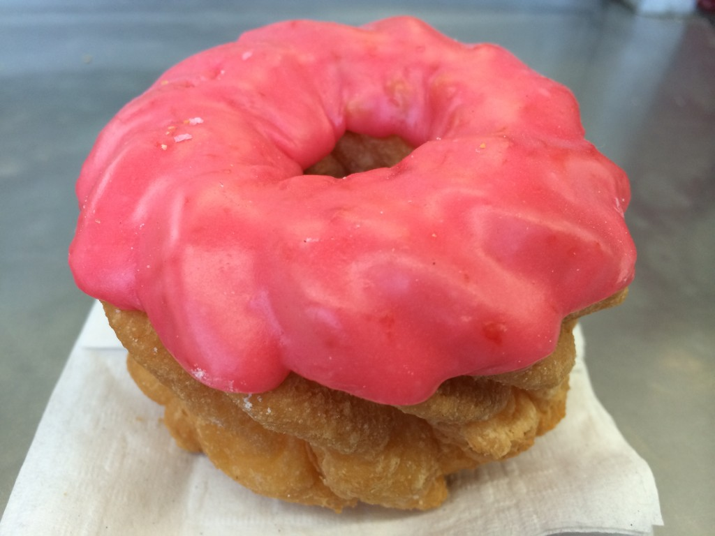 Strawberry Cruller from Donut Hut