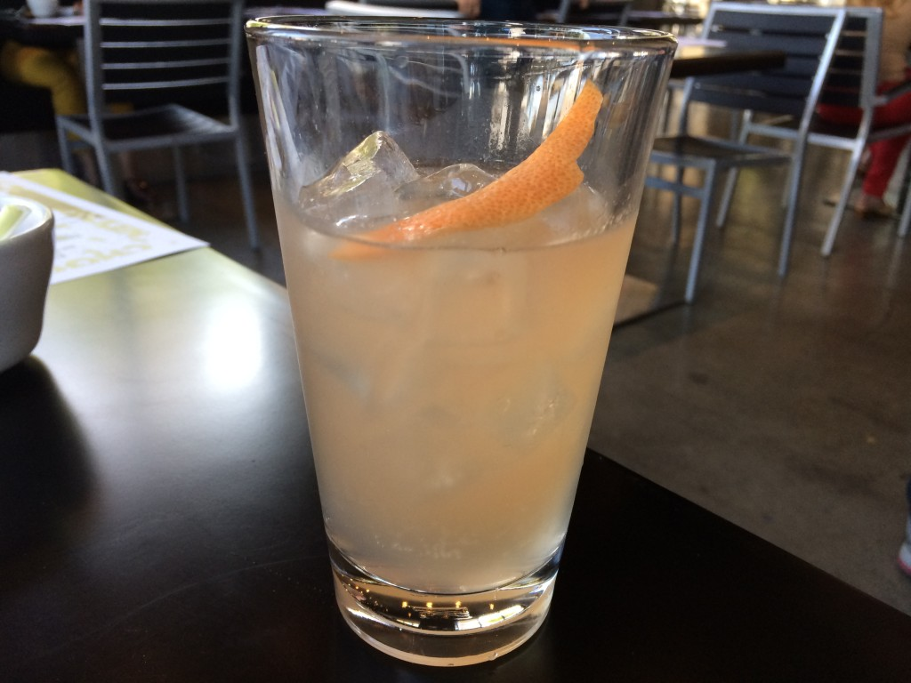 """Frying 58"" Cocktail with Gin, Grapefruit and Pineapple"