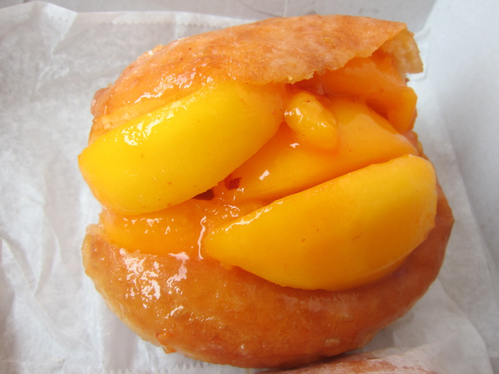 Fresh Peach Stuffed Donut from The Donut Man