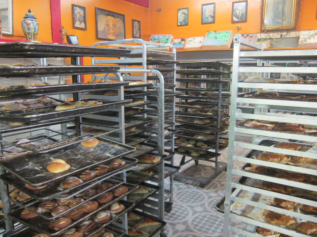 Los Reyes Bakery next door