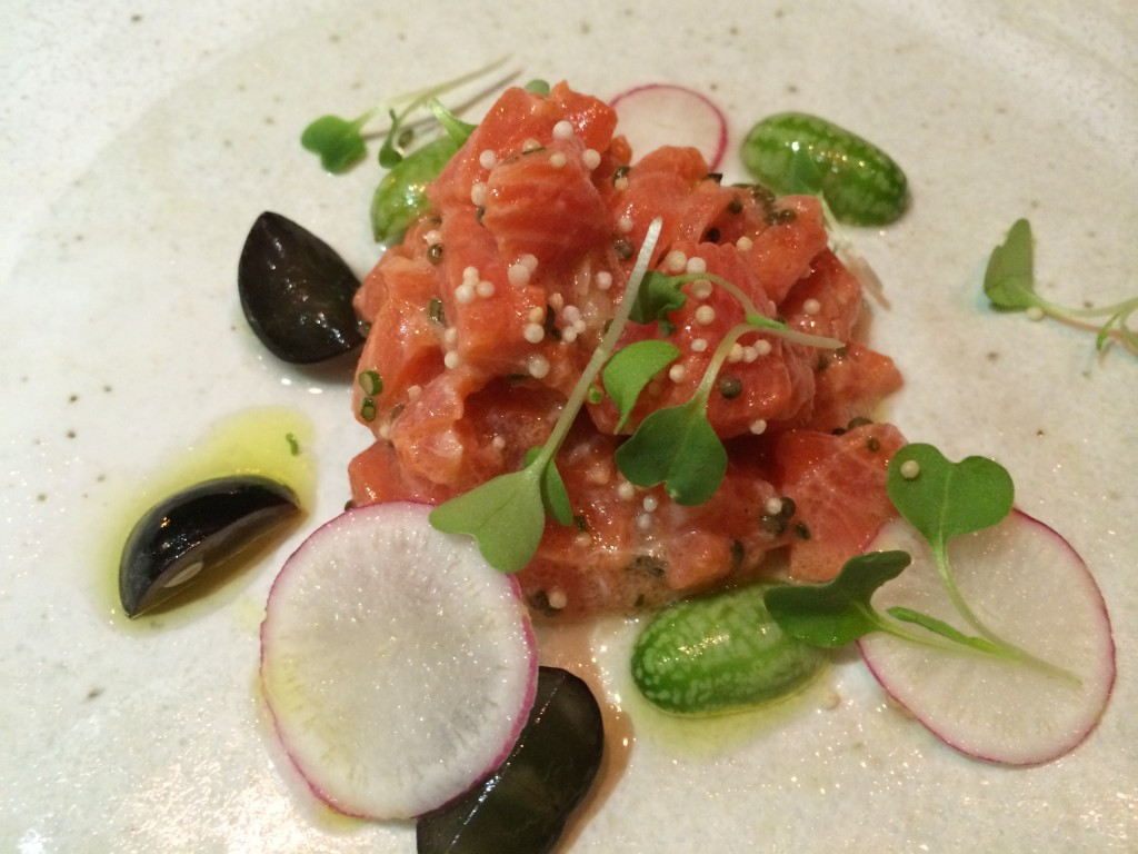 Smoked Sockeye Salmon Crudo