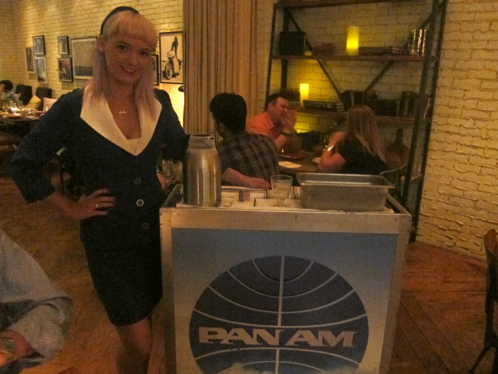 "Anyone for Liquid Nitrogen ""Otter Pops"" from a Pan Am beverage cart?"