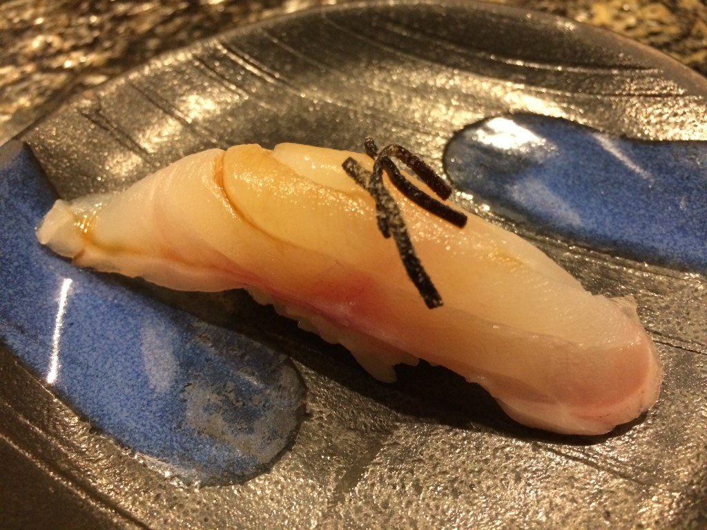 Black Sea Bass Sushi with Kelp from Sushi Zo