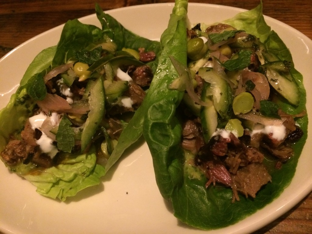 Smoked Lamb Lettuce Wraps