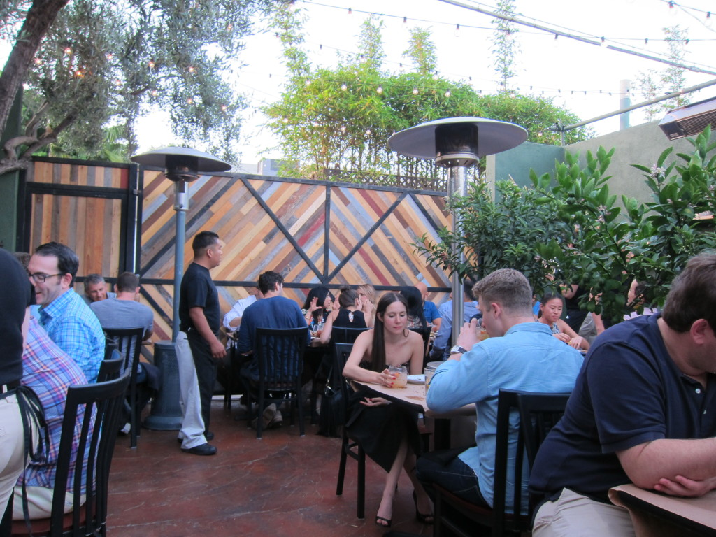 The end of your journey:  a beautiful restaurant patio