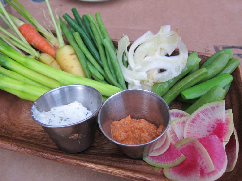 Crudité of Vegetables with Almond Romesco and House Ranch