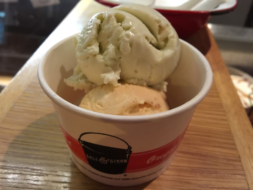 Green Fennel & Maple and Carrot Carrot Cake Ice Creams from Salt & Straw Ice Cream