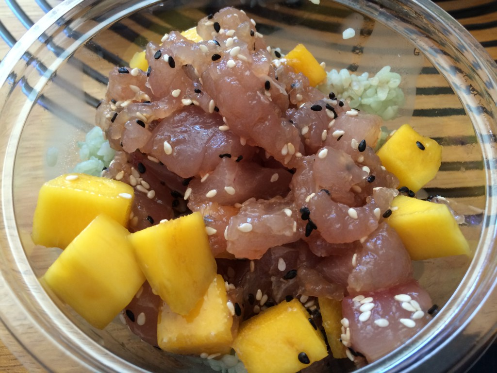 Albacore Poké with Mango on Jasmine Rice