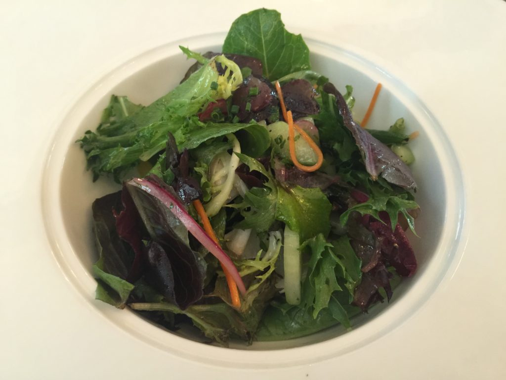"""Lafayette"" Garden Salad with Shaved Radish, Cucumbers and Vinaigrette Maison"