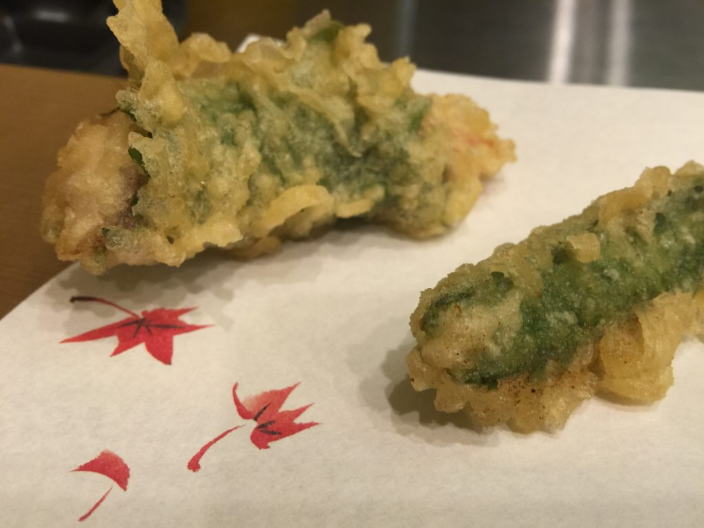 Tempura Snapper and Tempura Snap Pea