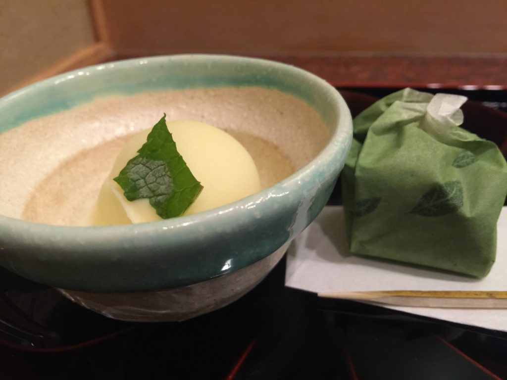 Yuzu Sherbet and Green Tea Mochi